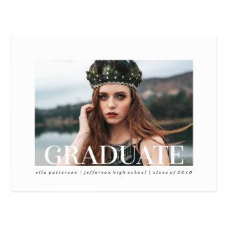 Simple Style   Photo Graduation Announcement Postcard