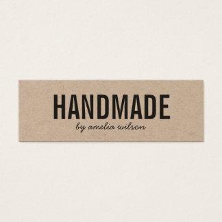 Simple Stylish Rustic Handmade Kraft Mini Business Card