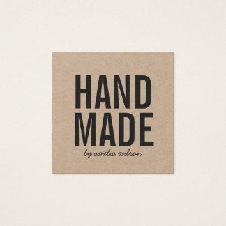 Simple Stylish Rustic Handmade Kraft Square Business Card
