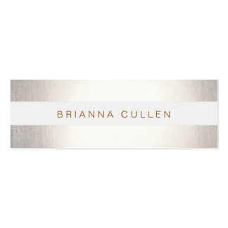 Simple Stylish Striped FAUX Silver Elegant Pack Of Skinny Business Cards