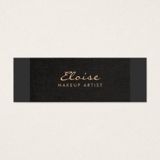 Simple Stylist & Makeup Artist Minimalistic Black Mini Business Card