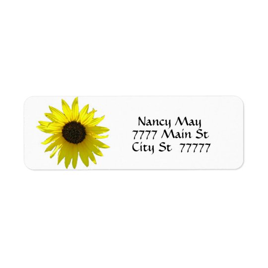 Simple Sunny Sunflower Return Address Label