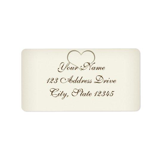 Simple Sweet Beige Address Label
