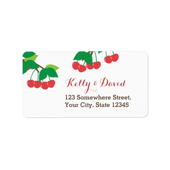 Simple Sweet Cherries Return Address Labels