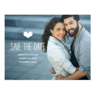 Simple & Sweet | Photo Save the Date Postcard