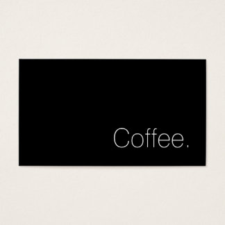 Simple Swiss Word Dark Loyalty Coffee Punch-Card Business Card