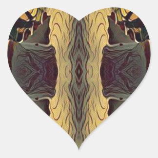Simple Symmetrical Masculine Pattern Heart Sticker