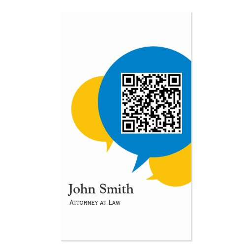 Simple Talk Bubbles Attorney Business Card