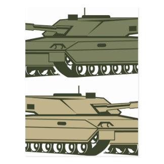 Simple tanks vector postcard