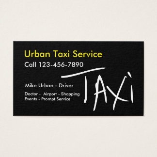 Simple Taxi Trendy Two Side Design Business Card