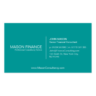 Simple Teal Customizable Business Card Template