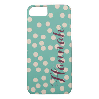 Simple Teal with Polka Dots iphone case