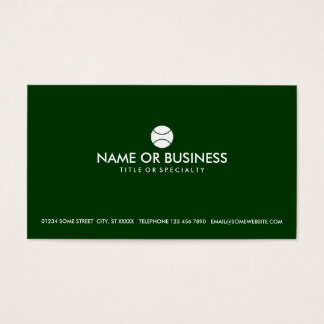 simple tennis business card