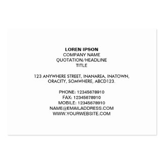 Simple Text 05 - White Pack Of Chubby Business Cards