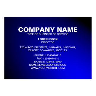 Simple Text 06 - Spotlit - Blue Pack Of Chubby Business Cards