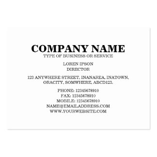 Simple Text 06a - White Pack Of Chubby Business Cards
