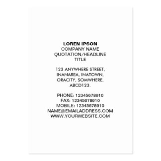 Simple Text 07 - White Pack Of Chubby Business Cards