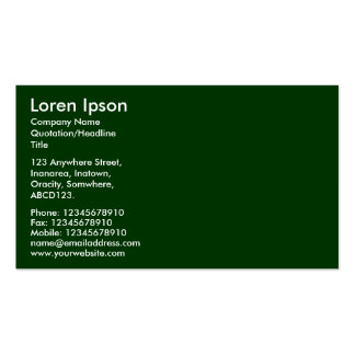 Simple Text - Dark Green Pack Of Standard Business Cards