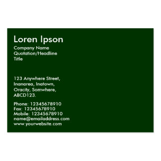 Simple Text - Dk Green Pack Of Chubby Business Cards