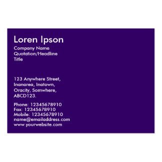 Simple Text - Dp Purple Pack Of Chubby Business Cards