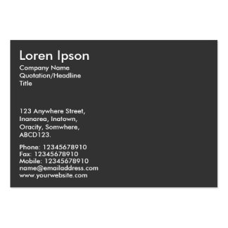 Simple Text - Gray Pack Of Chubby Business Cards