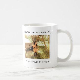 Simple things basic white mug