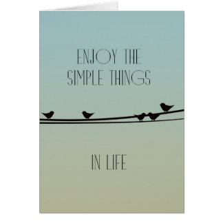 Simple Things Birds Greeting Card