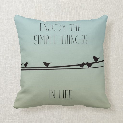 Simple Things Birds Throw Pillows