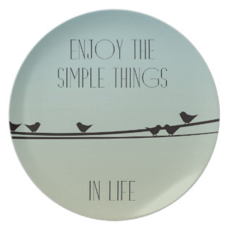 Simple Things Birds Plates
