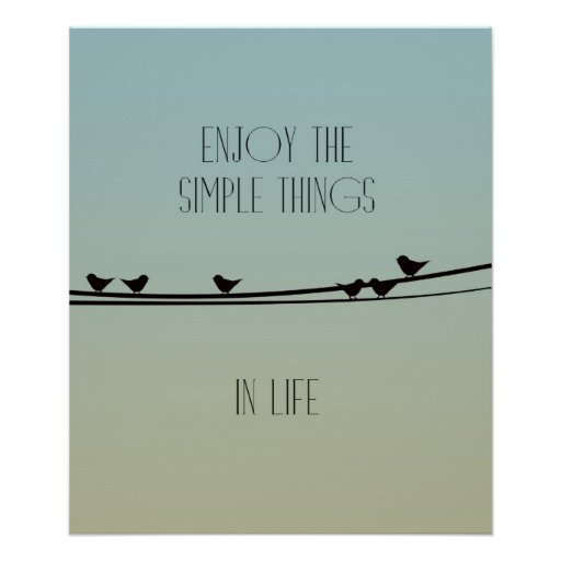 Simple Things Birds Poster