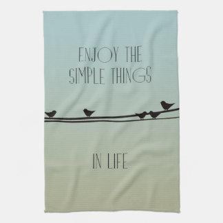 Simple Things Birds Towel