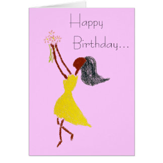 SIMPLE THINGS BIRTHDAY greeting card