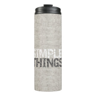 Simple Things Burlap ID184 Thermal Tumbler