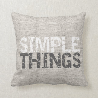 Simple Things Burlap ID184 Throw Pillow