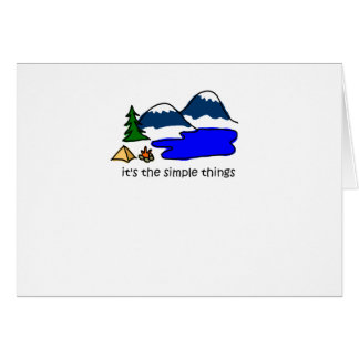 Simple Things - Camping Greeting Card