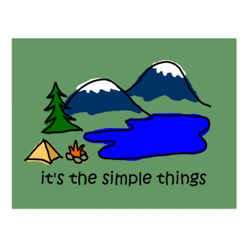 Simple Things - Camping Post Card
