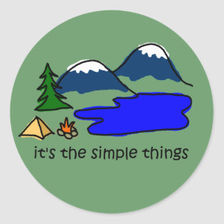 Simple Things - Camping Round Sticker