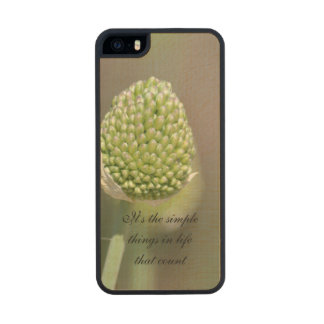 Simple Things Carved® Maple iPhone 5 Slim Case