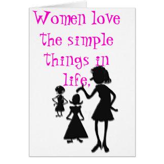 Simple Things Greeting Card