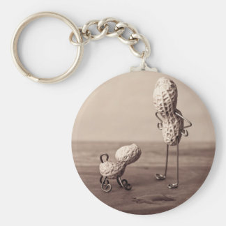 Simple Things - Man and Dog Basic Round Button Key Ring