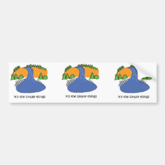 Simple Things - Waterfall Bumper Stickers