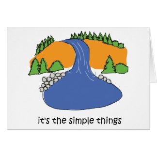Simple Things - Waterfall Greeting Card