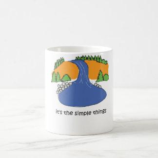 Simple Things - Waterfall Coffee Mugs