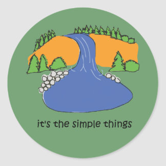 Simple Things - Waterfall Round Sticker