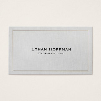 Simple Traditional Attorney Gray Professional Business Card
