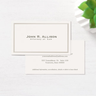 Simple Traditional Attorney Ivory Professional