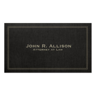 Simple Traditional Black Linen Look Professional Double-Sided Standard Business Cards (Pack Of 100)
