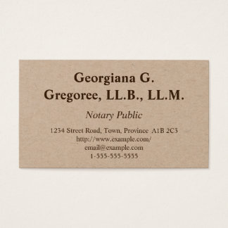 Simple & Traditional Notary Public Business Card
