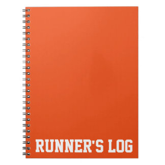 Simple Training Runner's Log Basic Colors Notebook