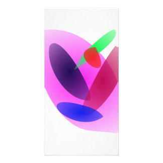 Simple Translucent Abstract Art Photo Card Template